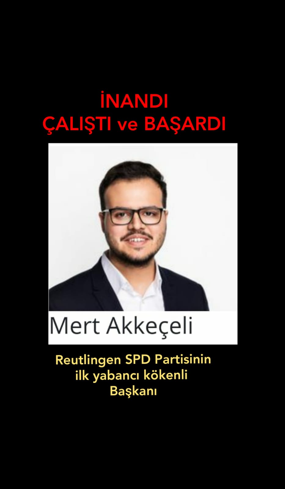 SPD Reutlingen' e Türk kökenli Başkan