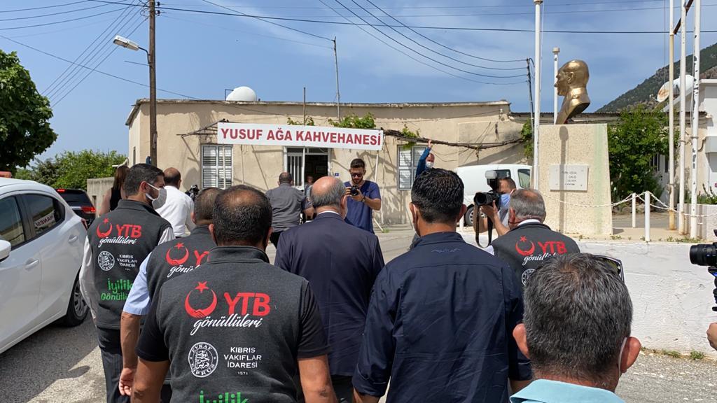 KKTC Cumhurbaşkanı, YTB'nin 'Gönül köprüsü' projesi ile vatandaşlarla buluştu