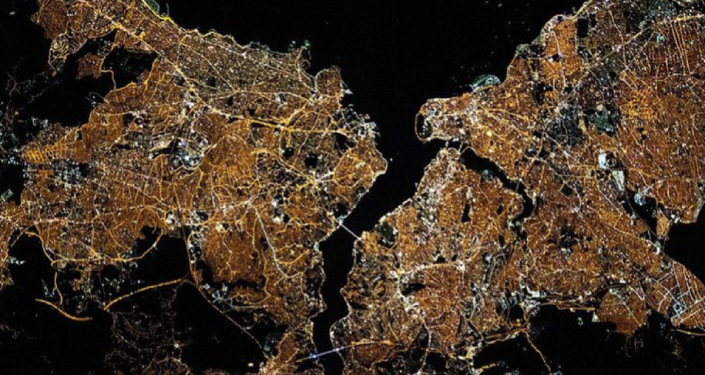 NASA'dan dikkat çeken paylaşım: Hey İstanbul parlıyorsun