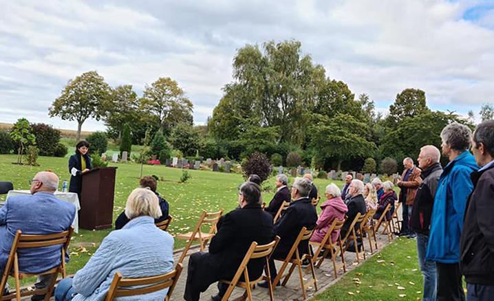 Wunstorf şehrinde Müslüman mezarlığı açıldı